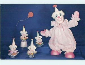 Pre-1980 Card Ad EGG HEAD EASTER CLOWN - NATIONAL HANDCRAFT Des Moines IA hn2271