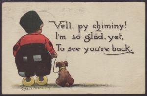 Vell Py Chiminy Dutch Boy and Dog