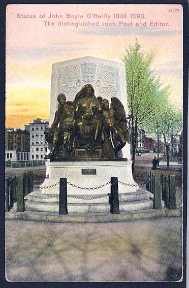 Statue of John Boyle O'Reilly Memorial Boston Massachusetts Unused c1910s