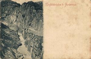 Switzerland Teufelsbrücke bei Andermatt 02.45