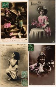 GLAMOUR REAL PHOTO GIRL, GIRLS, FILLES CHILDREN ENFANTS 800 CPA pre-1940