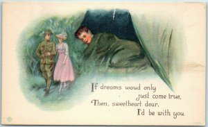 1910s WWI Postcard If Dreams Would Only Come True… Illustrated PC Series 1362