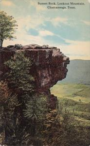 Tennessee Chattanooga Sunset Rock Lookout Mountain 1913