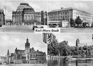 Karl Marx Stadt, Hotel Chemnitzer Hof Rathaus Schlossteich Opera