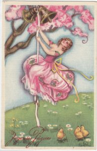 Art Deco ; CHIOSTRI ; Woman Under Tree #5 , 1910-30s