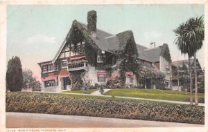 PASADENA CALIFORNIA ADOLPHUS BUSCH HOUSE~485 MADELINE DR. POSTCARD 1920s