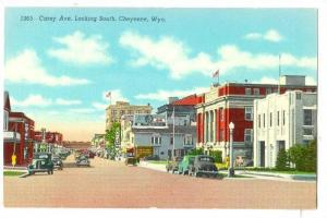Carey Avenue, Looking South, Hotel, Cafe, Cheyenne, Wyoming, 1930-1940s