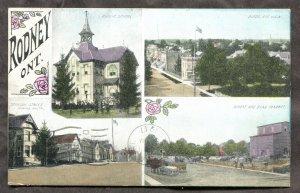 4893 - Canada RODNEY Ontario 1911 Street, Bean Market, School. Fancy Design
