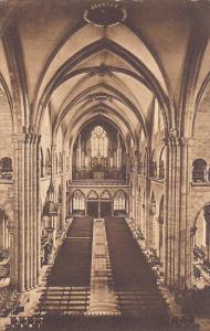 Switzerland Basel Muenster Romanisches Langhaus Blick gegen die Orgelbuehne