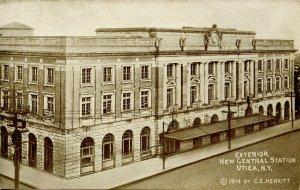 NY - Utica. New Central Station, 1914
