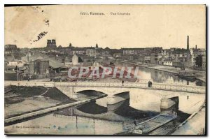 Old Postcard Rennes General view