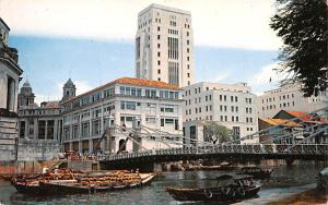 Singapore Singapore River and Cavangh Bridge  Singapore River and Cavangh Bridge