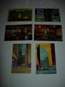 Dallas TX - Lot Of 6 Great Vintage Postcards - x0574