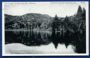 Lake Gregory San Bernardino Mountains California ca old postcard