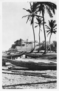 Ghana Gold Coast Accra Christiansborg Castle RP Postcard