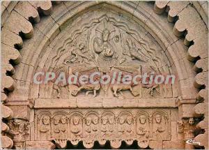 Postcard Modern Priory of Ganagobie (Alpes de Haute Prov) The tympanum of the...