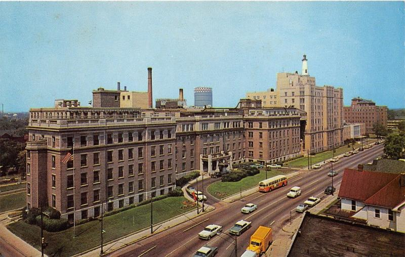 Indianapolis Indiana~Methodist Hospital Bird's Eye View~Bus