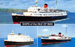 Bamforth Postcard SHIPS OF THE ISLE OF MAN Manx Maid, Mona's Queen, King Orry