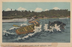 APSLEY , Ontario , Canada , 1930s ; Fishing Exaggeration #1