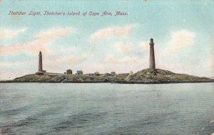 CAPE ANN, Massachusetts , 1907 ; Thatcher Island LIGHTHOUSEs