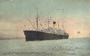Steamship Minnesota, Oriental Liner Seattle Steamer, Steamers, Ship, Ships Po...