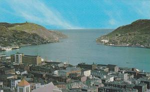 View of Harbour taken from Basilica Towers,  St. John´s Newfoundland,  Canad...