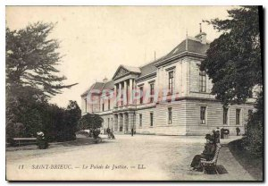 Old Postcard ST-BRIEUC. The Courthouse