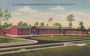 CHERRY POINT, North Carolina, 1930-1940's; Administration Building, Marine Co...