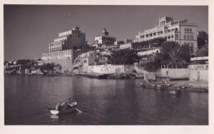 Mallorca El Terreno Rowing Boat Hotels Real Photo Old Postcard