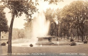F56/ Hastings Nebraska RPPC Postcard c1940s Fisher Memorial Park