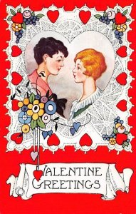 Whitney Made St. Valentines Day Postcard Unused