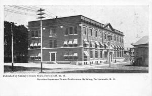 Portsmouth New Hampshire~Russian-Japanese Peace Conference Bldg~1905 Canney's PC