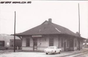 Georgia Nashville G &  F Railroad Depot Real Photo RPPC