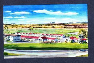 ME Queen City Motel BANGOR MAINE Postcard OLD