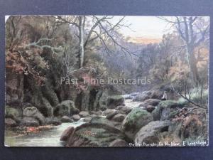 Ireland Co. Wicklow ON THE DARGLE Art by E. Longstaffe c1904 - Old Postcard