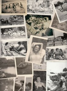 Lot 37 photos social history strand / beach life naturisme