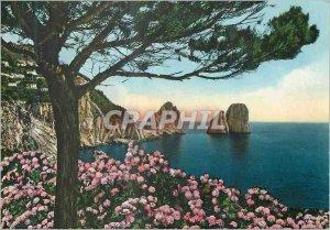 Modern Postcard the Crags Capri Faraglioni