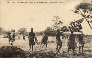 CPA Sénégal Afrique Fortier 303. Enterrement chez les Lébous (68123)