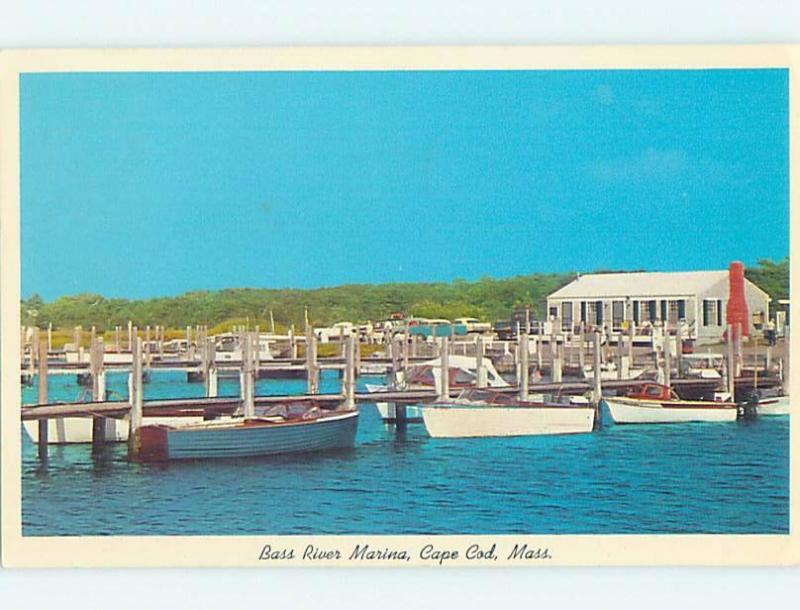 Pre-1980 BASS RIVER MARINA Cape Cod - West Dennis Massachusetts MA hp7228