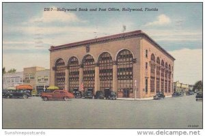 Florida Hollywood Bank and Post Office 1955 Curteich
