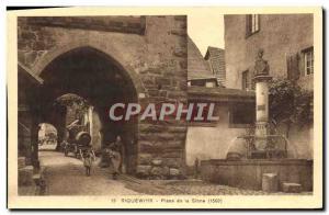 Old Postcard Riquewihr Place de la Sinne