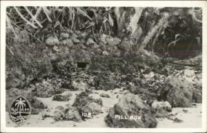 WWII Era Guam Showing Pill Box Real Photo Postcard