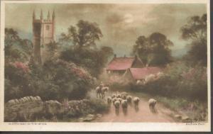 Vintage Postcard Art Painting WIDDECOMBE IN THE MOOR Devon by ANDREW BEER
