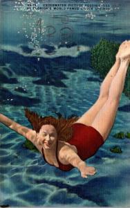 Florida Silver Springs Underwater Scene 1946