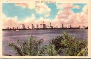 Florida Miami Skyline 1944