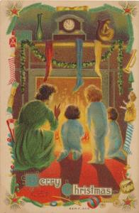 Christmas Greetings - Children Fireplace Stockings - Taggart - DB