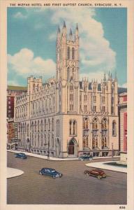 New York Syracuse The Mizpah Hotel And First Baptist Church