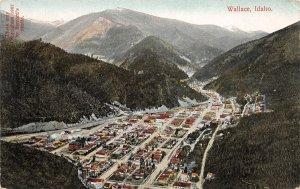 H83/ Wallace Idaho Postcard c1910 Birdseye View Mountains  56