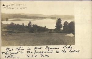 Meredith NH Lake Waukewan c1900 Private Mailing Real Photo Postcard