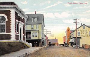 Lubec Maine Bank Square Street Scene Historic Bldgs Antique Postcard K28168